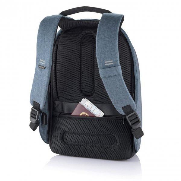XD Design Bobby Hero Small Anti-diefstal Rugzak light blue backpack van Polyester