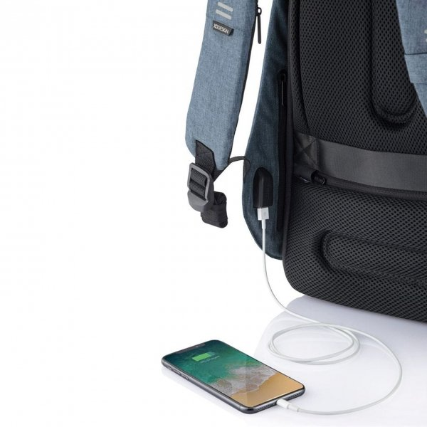 XD Design Bobby Hero Small Anti-diefstal Rugzak light blue backpack