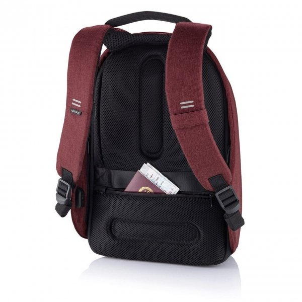 XD Design Bobby Hero Small Anti-diefstal Rugzak red backpack van Polyester