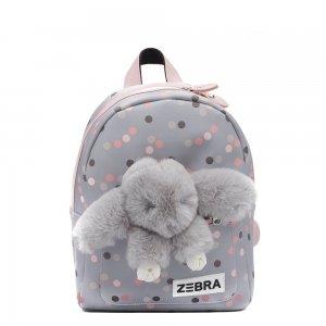 Zebra Trends Girls Rugzak S Honey Bunny leo dot blue Kindertas