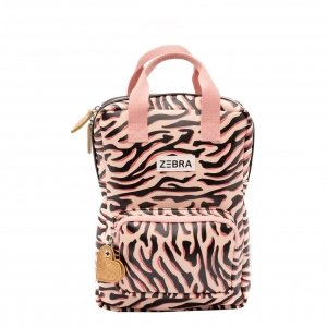 Zebra Trends Girls Rugzak S Zebra Stripes pink Kindertas