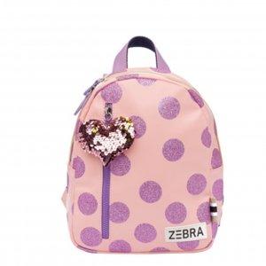 Zebra Trends Girls Rugzak S glitterdots pink Kindertas