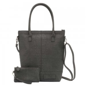 Zebra Trends Natural Bag Kartel XL Rits Croco black Damestas