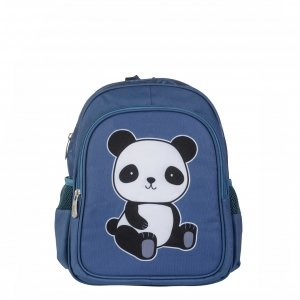 A Little Lovely Company Backpack Panda blauw