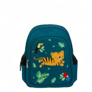 A Little Lovely Company Insulated Backpack Jungle tiger groen backpack