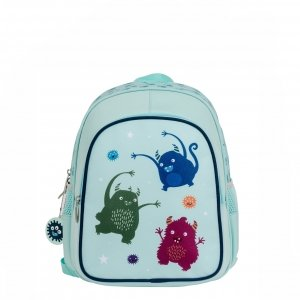 A Little Lovely Company Insulated Backpack Monsters lichtblauw backpack