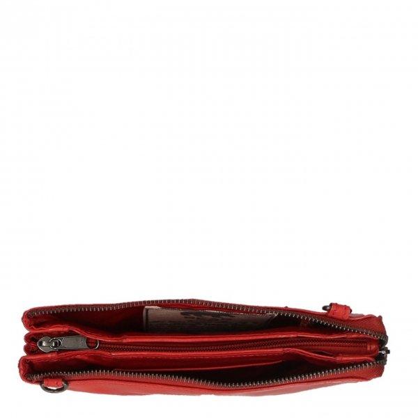 Bear Design Callisto Pelle Clutch rood II Damestas van Leer