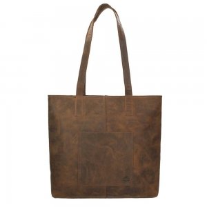 Bear Design Dark Nature Shopper brown2 Damestas