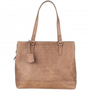 Burkely Croco Caia Handbag M 13.3'' dusty sand
