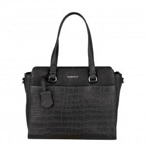 Burkely Croco Caia Handbag S black Damestas