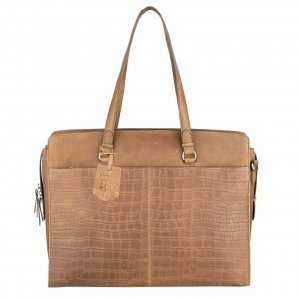 Burkely Croco Caia Workbag 15.6'' dusty sand