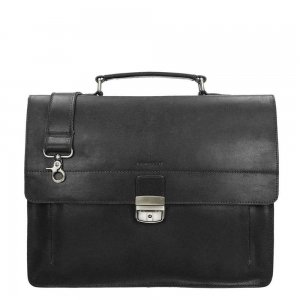 Burkely Scott Vintage Briefcase 2 Compartment black Aktetas