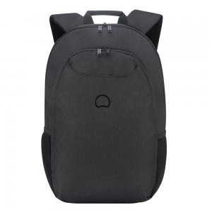 "Delsey Esplanade One Compartment Backpack M 15.6"" deep black backpack"