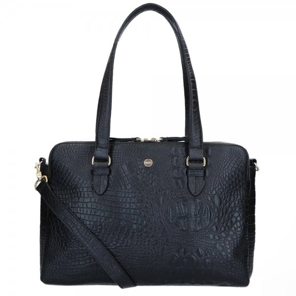 FMME. Charlotte 15.6 Workingbag 3 Pockets Croco black