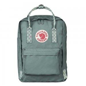 Fjallraven Kanken Laptop 13'' Rugzak frost green - chess pattern backpack