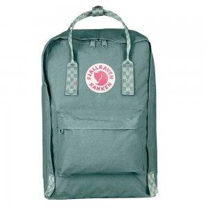 "Fjallraven Kanken Laptop 15"" Rugzak frost green - chess pattern backpack"