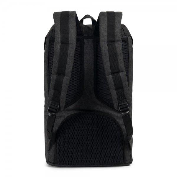 Herschel Supply Co. Little America Rugzak black crosshatch/black rubber backpack van Polyester