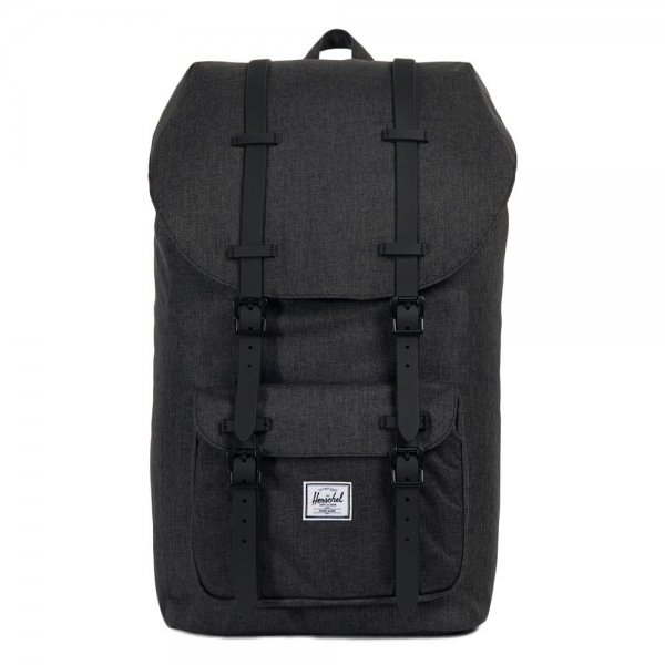 Herschel Supply Co. Little America Rugzak black crosshatch/black rubber backpack