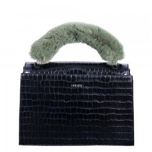 Inyati Olivia Top Handle Bag black croco Damestas