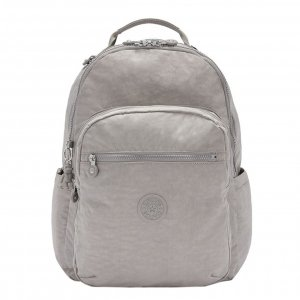 Kipling Seoul Rugzak grey gris backpack