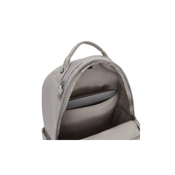 Kipling Seoul Rugzak grey gris backpack van Nylon