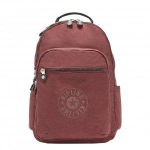 Kipling Seoul Rugzak maroon black backpack