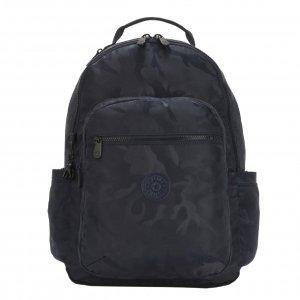 Kipling Seoul Rugzak satin camo blue backpack