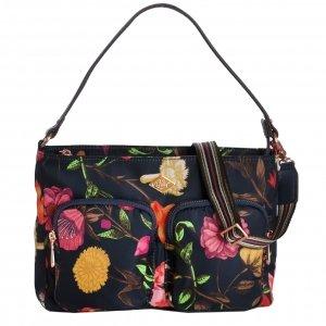 Oilily Winter Bouquet M Flat Shoulder Bag navy night Damestas