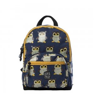 Pick & Pack Cute Owl Backpack S denim Kindertas
