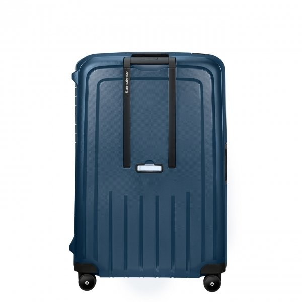 Samsonite S'Cure Eco Spinner 81 navy blue Harde Koffer van Polypropyleen