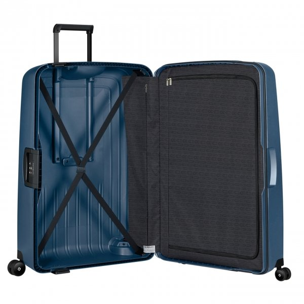 Samsonite S'Cure Eco Spinner 81 navy blue Harde Koffer