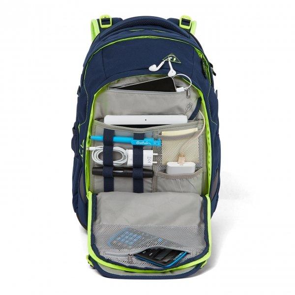 Satch Match School Rugzak toxic yellow backpack van Polyester