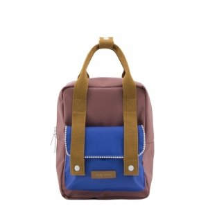 Sticky Lemon Deluxe Backpack Small sugar brown / hotel brick / ink blue Kindertas