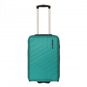 Travelbags Barcelona Handbagage koffer - 55 cm - 2 wielen jade Harde Koffer