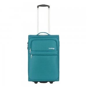 Travelbags Lissabon Handbagage koffer - 55 cm - 2 wielen - jade Zachte koffer