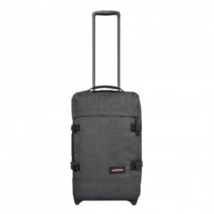 Eastpak Strapverz Trolley Backpack S black denim Handbagage koffer Trolley