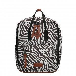 Enrico Benetti Londen Rugtas 14'' zebra print backpack