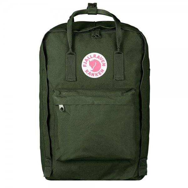 """Fjallraven Kanken Laptop 17"""" Rugzak forest green backpack"""
