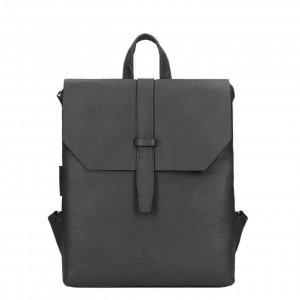 Fred de la Bretoniere Backpack M Grain Leather black Damestas