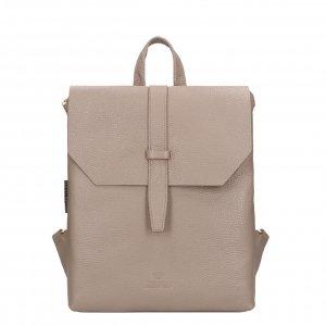 Fred de la Bretoniere Backpack M Grain Leather taupe Damestas