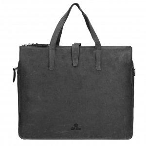 Fred de la Bretoniere Handbag Heavy Grain leather super black Damestas