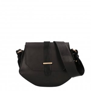 Fred de la Bretoniere Shoulderbag M Natural Dyed Smooth Leather black Damestas