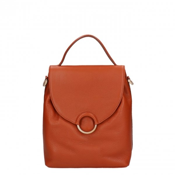 Fred de la Bretoniere Soft Grain Leather Shoulderbag S cognac Damestas