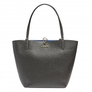 Guess Alby Toggle Tote black/blue Damestas