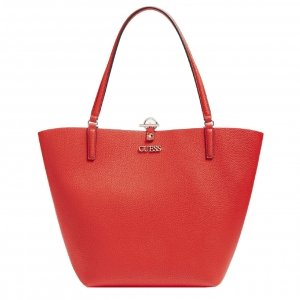 Guess Alby Toggle Tote red/rosewood Damestas