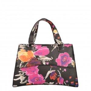 Guess Dalma Mini Satchel black floral Damestas
