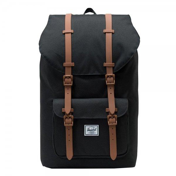Herschel Supply Co. Little America Rugzak black/saddle brown backpack