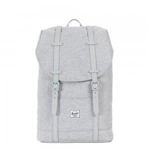Herschel Supply Co. Retreat Mid-Volume Rugzak light grey crosshatch/grey rubber backpack