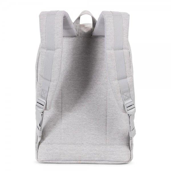 Herschel Supply Co. Retreat Rugzak light grey crosshatch/grey rubber backpack van Katoen