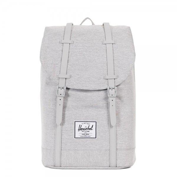 Herschel Supply Co. Retreat Rugzak light grey crosshatch/grey rubber backpack